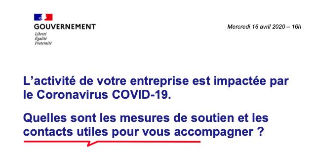 L'activité de votre entreprise est impactée par le Coronavirus COVID-19.